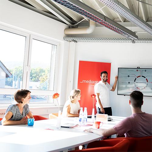 Team Meeting im Büro