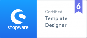 Shopware 6 Logo ziertifizierte template designer