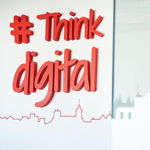 "Motto: ""Think digital"""