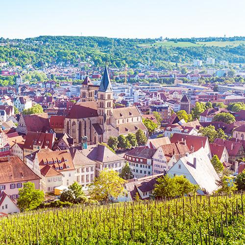 Rundumblick über Esslingen