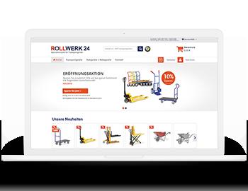 Rollwerk24 B2B-Onlineshop