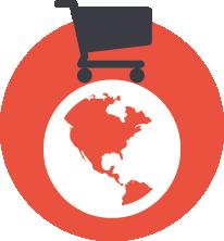 Grafik weltweiter Shop