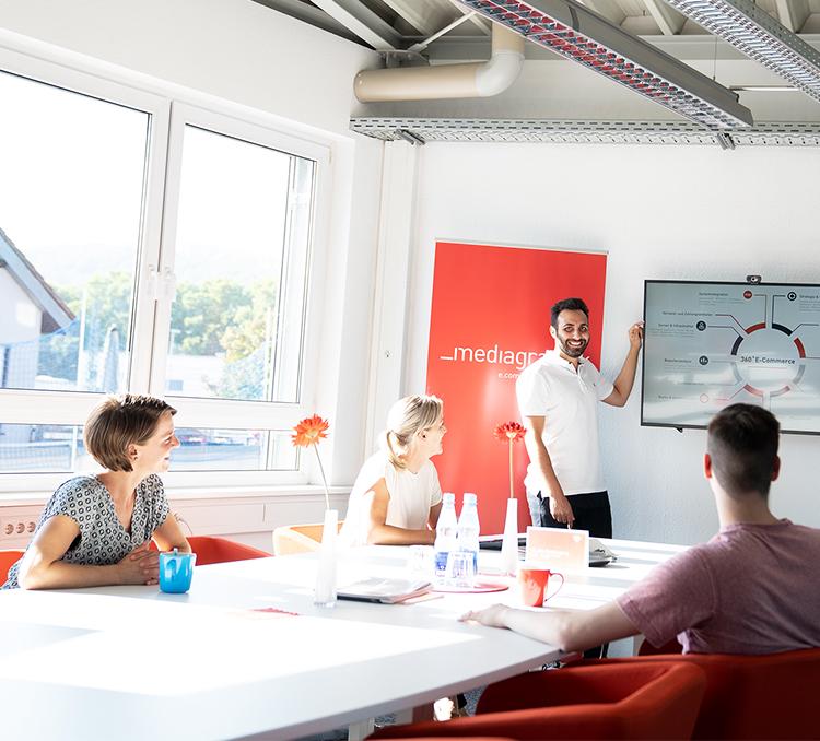 Teammeeting im Büro